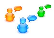 dyskusji deskowa ikony Zdjęcie Royalty Free