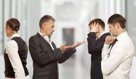 Dyskutujący, konflikt, biznesowy pojęcie Obrazy Royalty Free