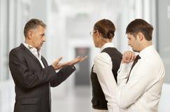 Dyskutujący, konflikt, biznesowy pojęcie Fotografia Stock