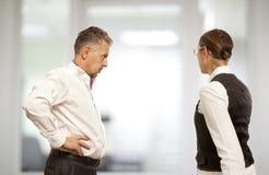 Dyskutujący, konflikt, biznesowy pojęcie Obraz Stock
