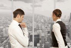 Dyskutujący, konflikt, biznesowy pojęcie Zdjęcie Stock