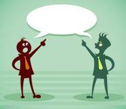 Dyskutuje problem royalty ilustracja