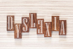 Dyslexia concept Stock Photos