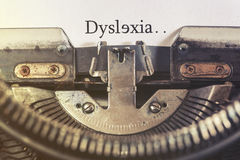 Dyslexia concept Royalty Free Stock Images