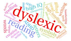 Dyslexic Word Cloud Royalty Free Stock Photo