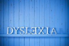 Dyslexie-Hintergrund-Konzept Lizenzfreies Stockfoto