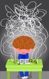 Dyslexievektor Stockbild