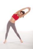 Dysponowana kobieta robi aerobikom obraz stock