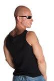 dysponowani samiec modela tatuaże Zdjęcie Stock