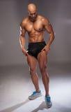 Dysponowany bodybuilder obrazy royalty free