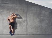 Dysponowany i zdrowy męski sprawność fizyczna modela portret Fotografia Stock