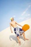 Dysponowany sandboarder zdjęcie royalty free