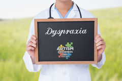 Dyspraxia against green meadow Royalty Free Stock Photography