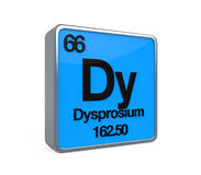 Dysprosium Element Periodic Table Royalty Free Stock Image