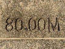 Dystansowa skala na footpath Obrazy Royalty Free