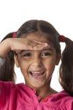 dystansowej dziewczyny mały target1307_0_ Zdjęcie Stock