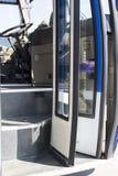 Dystansowi autobusy w parking samochodowym Zdjęcia Royalty Free