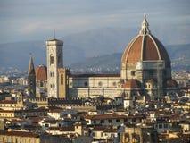 Dystansowy widok Duomo w Florencja Zdjęcie Stock