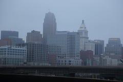 Dyster dag i Cincinnati, Ohio, USA fotografering för bildbyråer