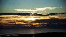 dyster solnedgång royaltyfria bilder