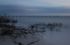 Dyster solnedgång efter orkanen Royaltyfria Foton