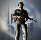 Dystopia Soldier Royalty Free Stock Photos
