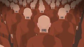 Dystopian mars av klon 2 vektor illustrationer