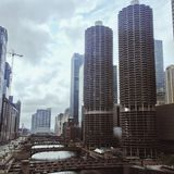 Dystra chicago royaltyfria bilder