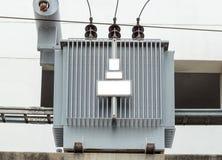 Dystrybucja elektryczny transformator Zdjęcie Stock