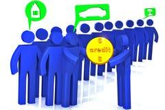 Dystrybucja pożyczki ilustracji