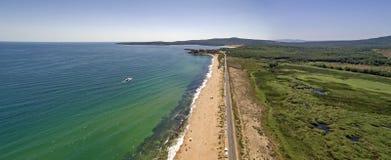 Dyuni从上面海手段看法,保加利亚 免版税库存图片