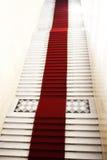 dywan iluminujący lekki czerwony schody Zdjęcie Stock