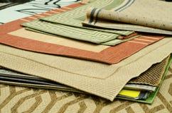 Dywan próbki w sklepie zdjęcie royalty free