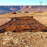 dywan w dolinnym Morocco Africa atlant sucha góra util Obrazy Stock