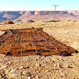 dywan w dolinnym Morocco Africa atlant sucha góra util Obraz Stock
