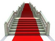 dywan zakrywający czerwoni schodki ilustracji