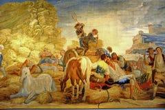 Dywanika dywan na ścianie obraz royalty free