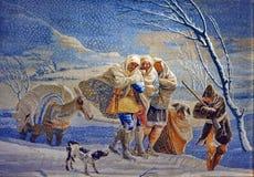 Dywanika dywan na ścianie zdjęcie royalty free