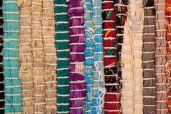 dywanowa kolorowa tekstura Tło andalusian dywan Jarapa Obraz Royalty Free