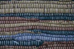 dywanowa kolorowa tekstura Tło andalusian dywan Jarapa Zdjęcie Stock