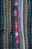 dywanowa kolorowa tekstura Tło andalusian dywan Jarapa Zdjęcie Royalty Free