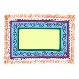dywanowa rama Zdjęcia Royalty Free