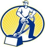 Dywanowego Cleaner Cleaning Próżniowa maszyna Retro Fotografia Stock