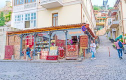 Dywanowy sklep w Tbilisi Fotografia Stock