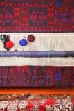 Dywanowy tkacza miejsce pracy Zdjęcie Stock