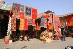 Dywanu sklep w Marrakesh obraz royalty free