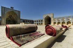 Dywany przy meczetem Obraz Stock