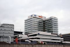 DZ银行和Schwaebisch霍尔斯图加特 库存照片