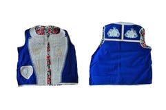 Dzamadan - Gorani-het Mensen` s kostuum is rijk verfraaid met een vest royalty-vrije stock afbeeldingen