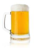 Dzbanek odizolowywający na białym tle piwo fotografia royalty free